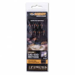 "Middy Las-soo Method Barbless hair Rigs (4"") 12-8lb (8pc)"