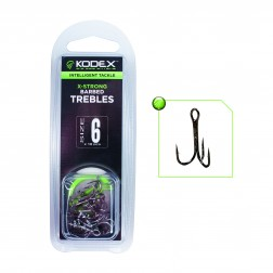 Kodex X-Strong Pike Treble Hooks:Barbed (10pc)
