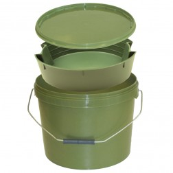 Lemco Green Round Bait Bucket with Internal Tray 10L