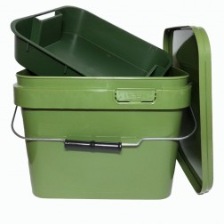 Lemco Green Square  Bait Bucket with Internal Tray 10L
