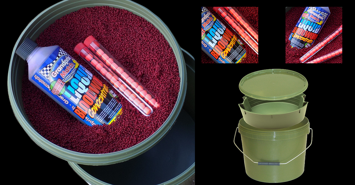 Bloodworm bait bucket pack